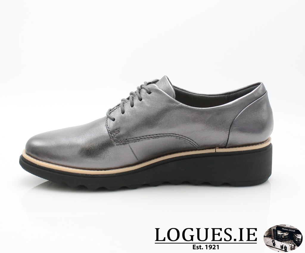 CLA Sharon Noel-Ladies-Clarks-Gun Metal Lea-065-D-Logues Shoes