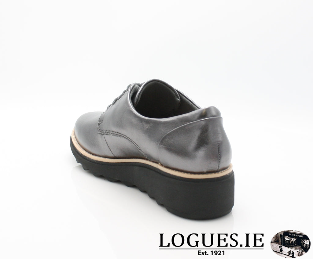 CLA Sharon Noel-Ladies-Clarks-Gun Metal Lea-070-D-Logues Shoes