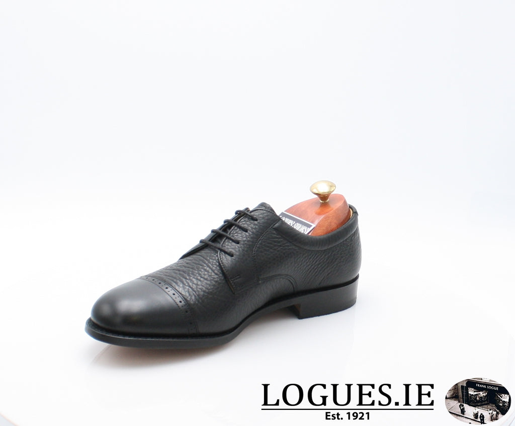STAINES BARKER-Mens-BARKER SHOES-BLACL-9-Logues Shoes