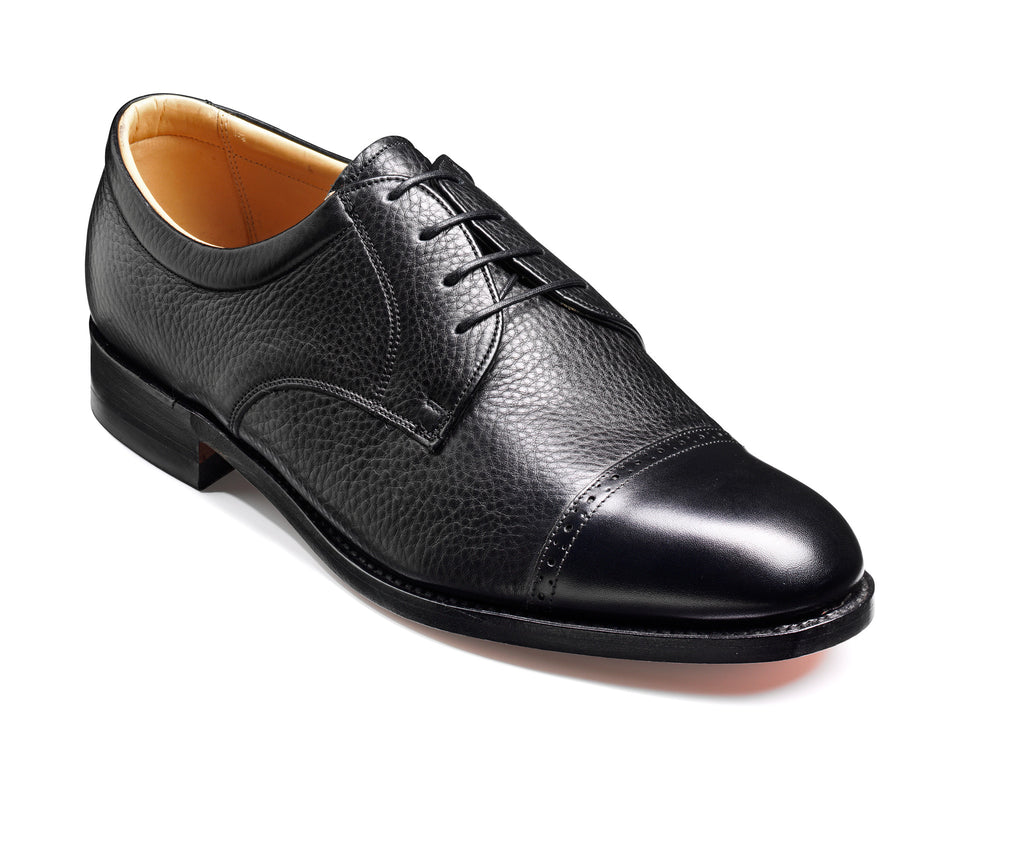 STAINES BARKER-Mens-BARKER SHOES-BLACL-6-Logues Shoes