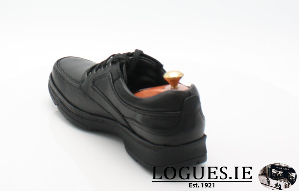 CLARKS  STAR STRIDE EXTRA WIDEMensLogues ShoesBlack Leather / 9 UK / H