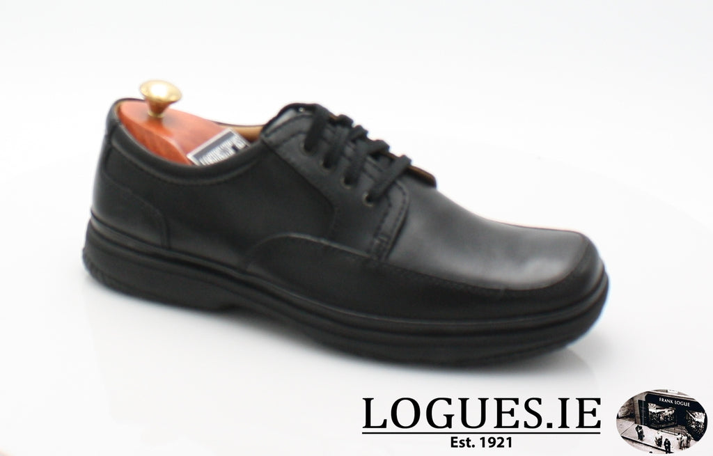 SWIFT MILE CLARK'S EX WIDE-Mens-Clarks-Black Leather-065-H-Logues Shoes