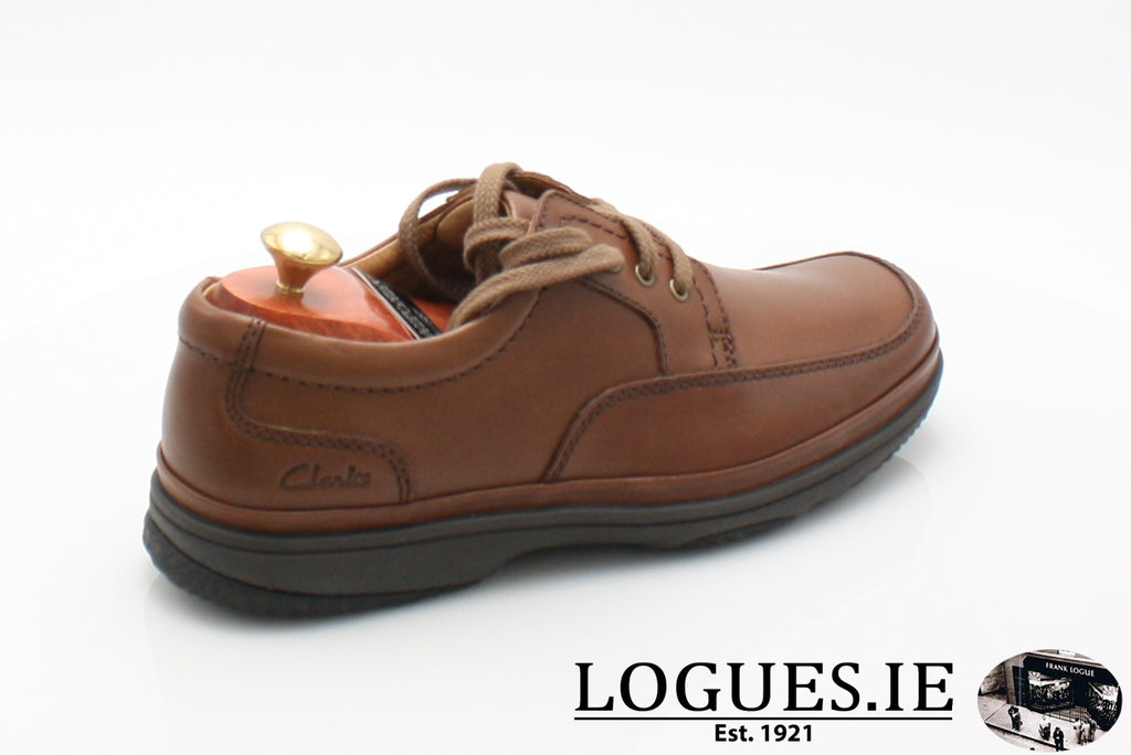 SWIFT MILE CLARK'S EX WIDE-Mens-Clarks-Mahogany Leathe-110-H-Logues Shoes