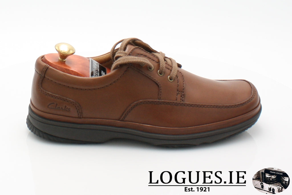 SWIFT MILE CLARK'S EX WIDE-Mens-Clarks-Mahogany Leathe-060-H-Logues Shoes