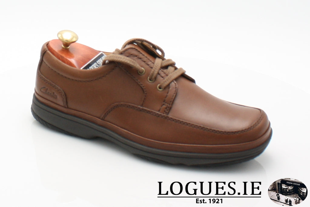 SWIFT MILE CLARK'S EX WIDE-Mens-Clarks-Mahogany Leathe-065-H-Logues Shoes