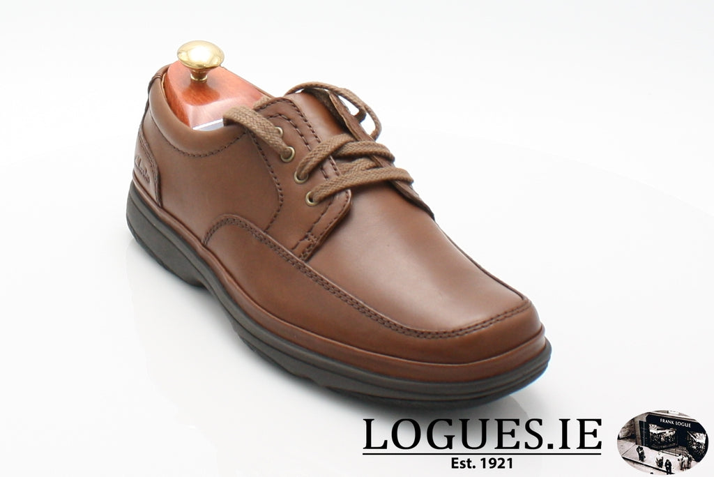SWIFT MILE CLARK'S EX WIDE-Mens-Clarks-Mahogany Leathe-070-H-Logues Shoes