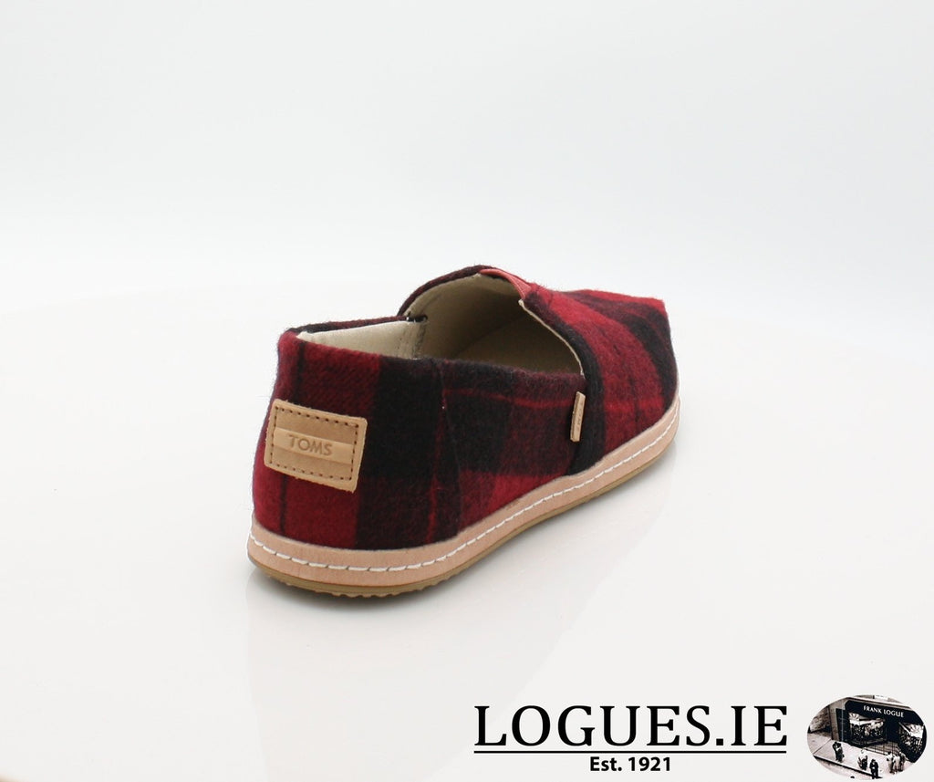 ALPR ESP-Ladies-TOMS SHOES-RED PLAID-8 UK = 10 US-Logues Shoes