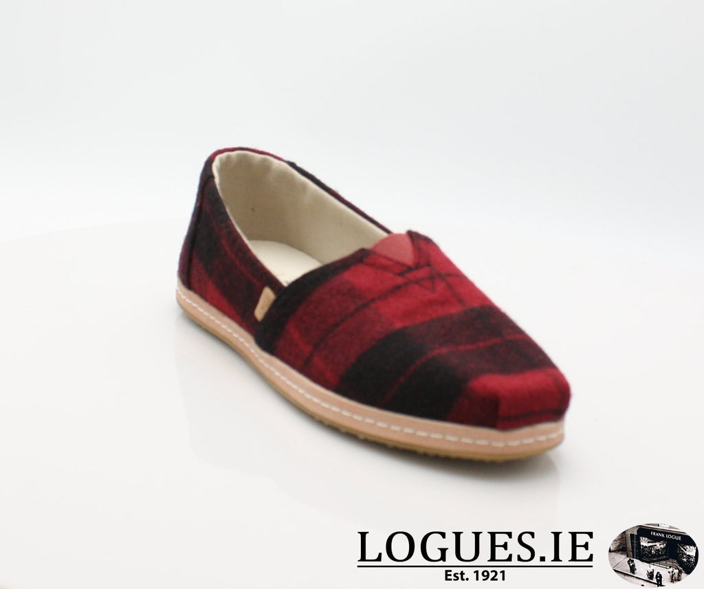 ALPR ESP-Ladies-TOMS SHOES-RED PLAID-4 UK = 6 US-Logues Shoes