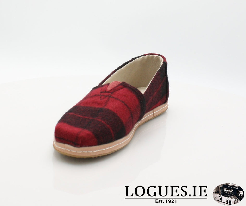 ALPR ESP-Ladies-TOMS SHOES-RED PLAID-5 UK =7 US-Logues Shoes