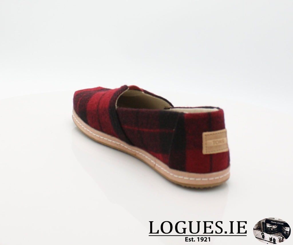 ALPR ESP-Ladies-TOMS SHOES-RED PLAID-7 UK = 9 US-Logues Shoes