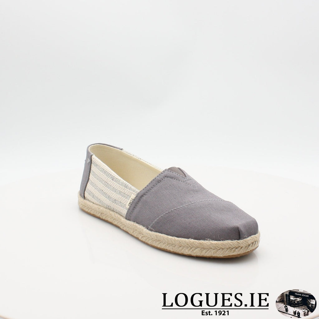 10013496 ALPARGATA TOMS S19LadiesLogues ShoesGREY / 5 UK- 38 EU- 7 US