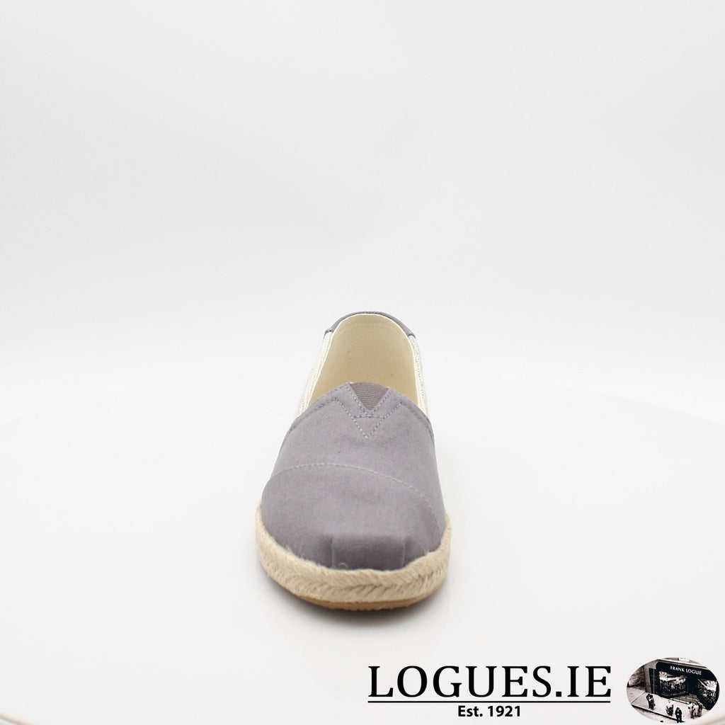 10013496 ALPARGATA TOMS S19LadiesLogues ShoesGREY / 6 UK- 39 EU - 8 US