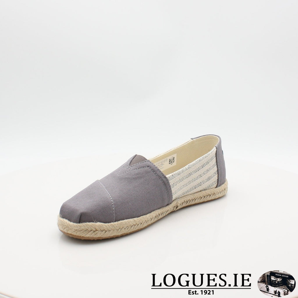 10013496 ALPARGATA TOMS S19LadiesLogues ShoesGREY / 7 UK- 41 EU - 9 US