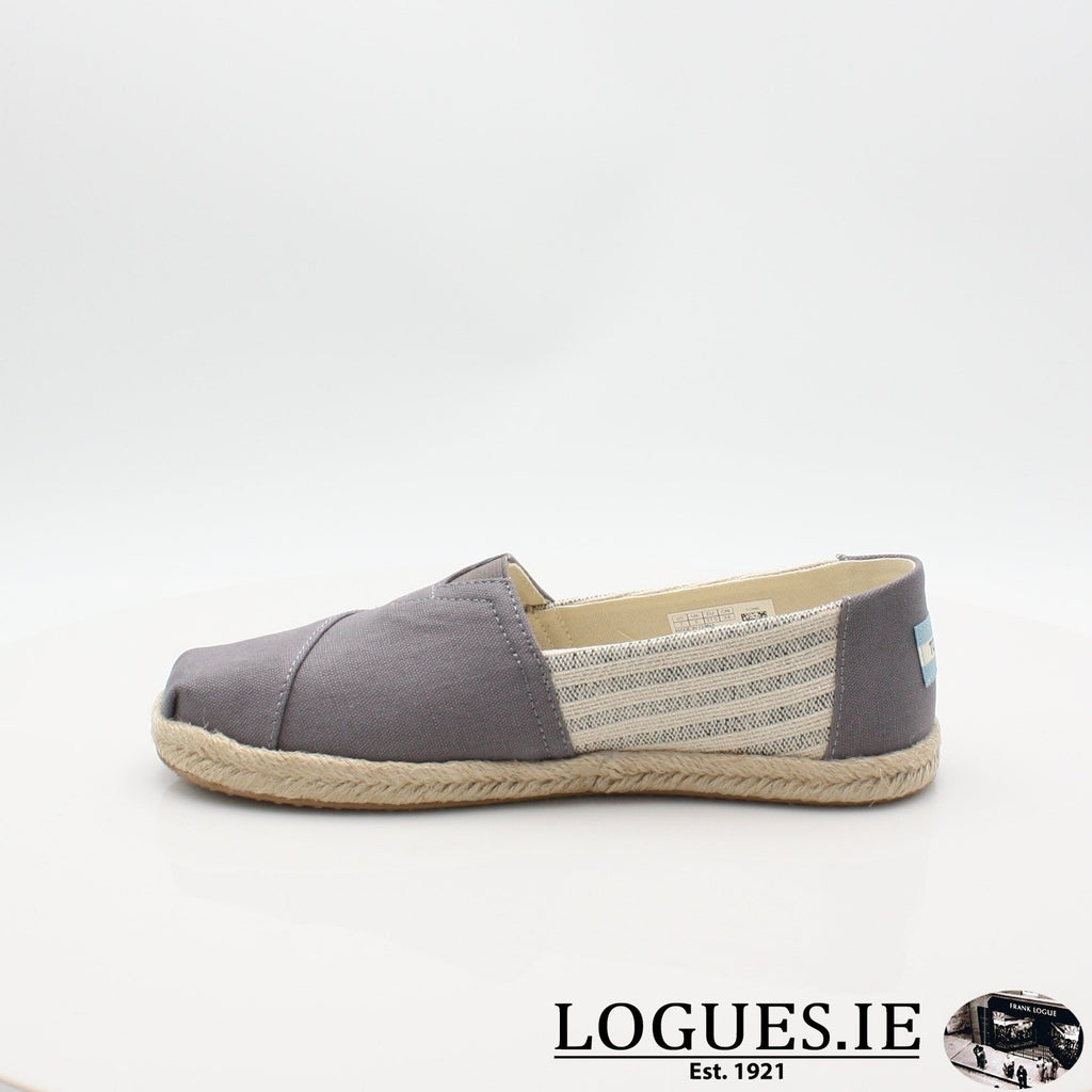 10013496 ALPARGATA TOMS S19LadiesLogues ShoesGREY / 8 UK - 42 EU -10 US