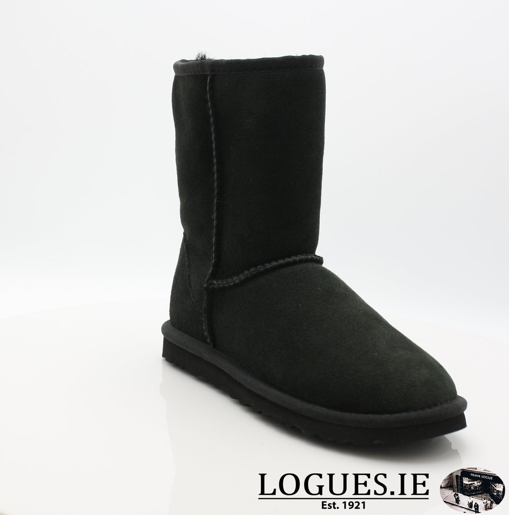 UGGS WMS CLASSIC SHORT 5825-Ladies-UGGS FOOTWEAR-BLACK-37 EU4.5 UK 6 US-Logues Shoes