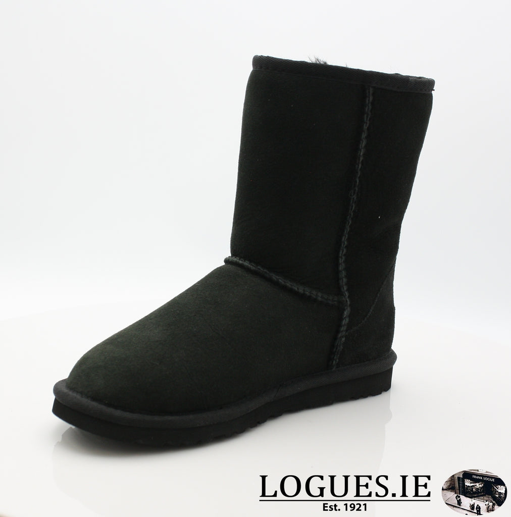 UGGS WMS CLASSIC SHORT 5825-Ladies-UGGS FOOTWEAR-BLACK-39 EU 6.5UK 8 US-Logues Shoes