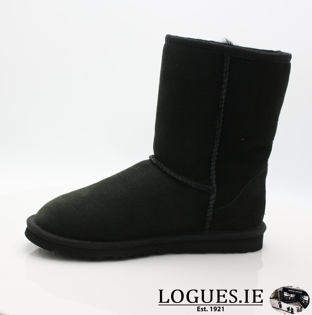 UGGS WMS CLASSIC SHORT 5825-Ladies-UGGS FOOTWEAR-BLACK-40 EU 7 .5UK 9 US-Logues Shoes