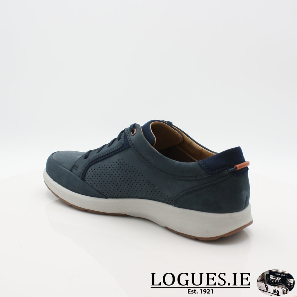 Un Trail Form CLARKS 19-Mens-Clarks-Navy Nubuck-060-G-Logues Shoes