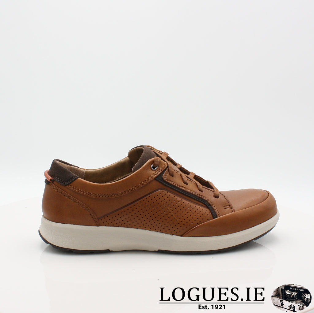 Un Trail Form CLARKS 19-Mens-Clarks-Tan Leather-060-G-Logues Shoes