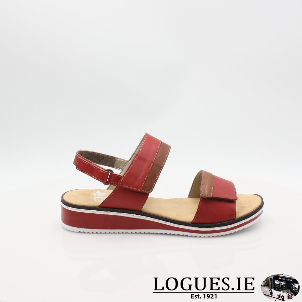 V36B9 RIEKER 19LadiesLogues Shoesred combination 33 / 36