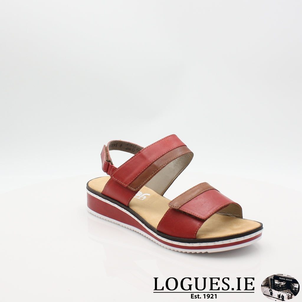 V36B9 RIEKER 19LadiesLogues Shoesred combination 33 / 37