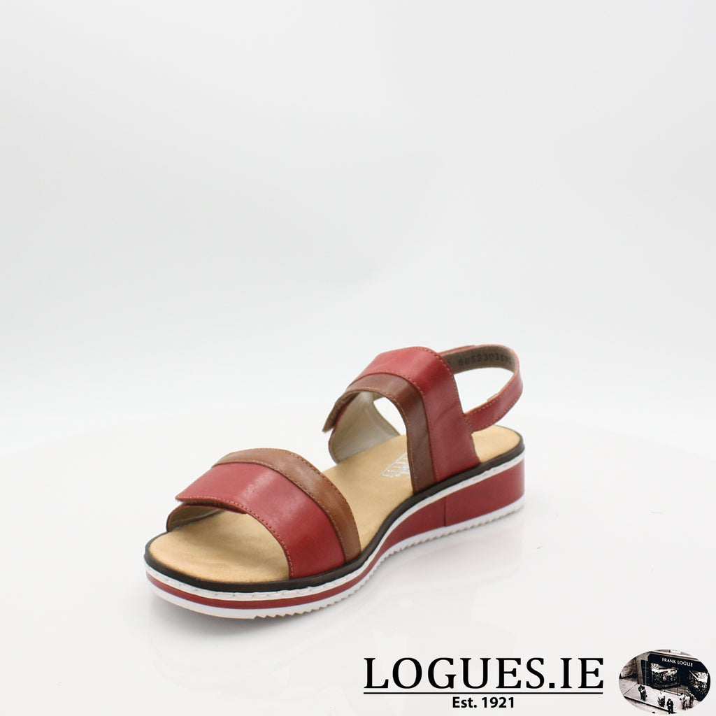 V36B9 RIEKER 19LadiesLogues Shoesred combination 33 / 38