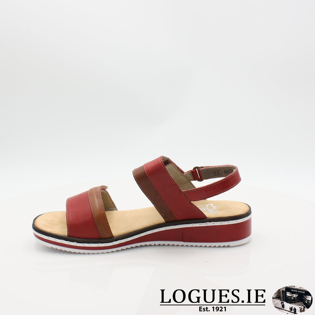 V36B9 RIEKER 19LadiesLogues Shoesred combination 33 / 39