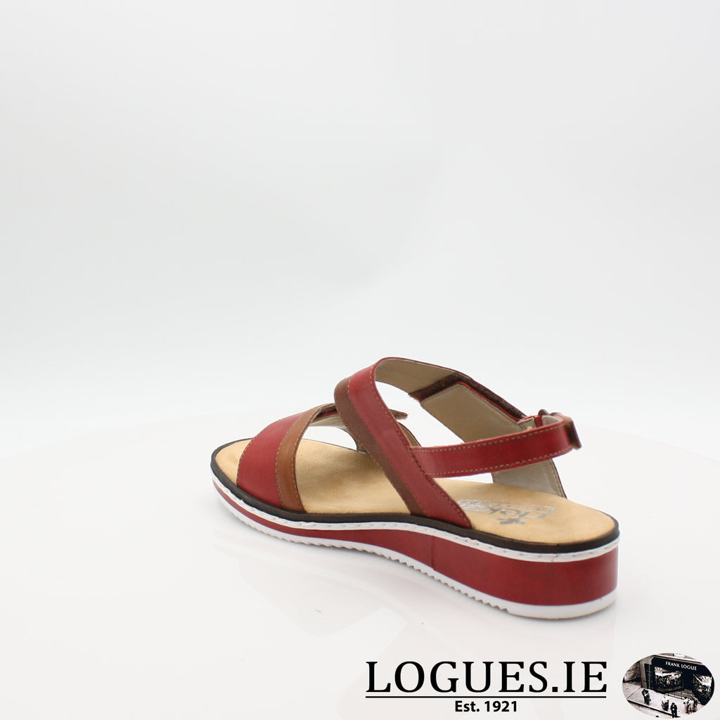 V36B9 RIEKER 19LadiesLogues Shoesred combination 33 / 40