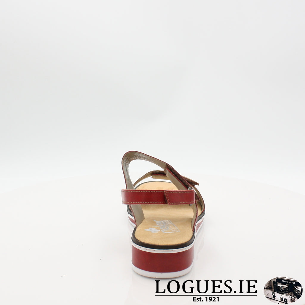 V36B9 RIEKER 19LadiesLogues Shoesred combination 33 / 41