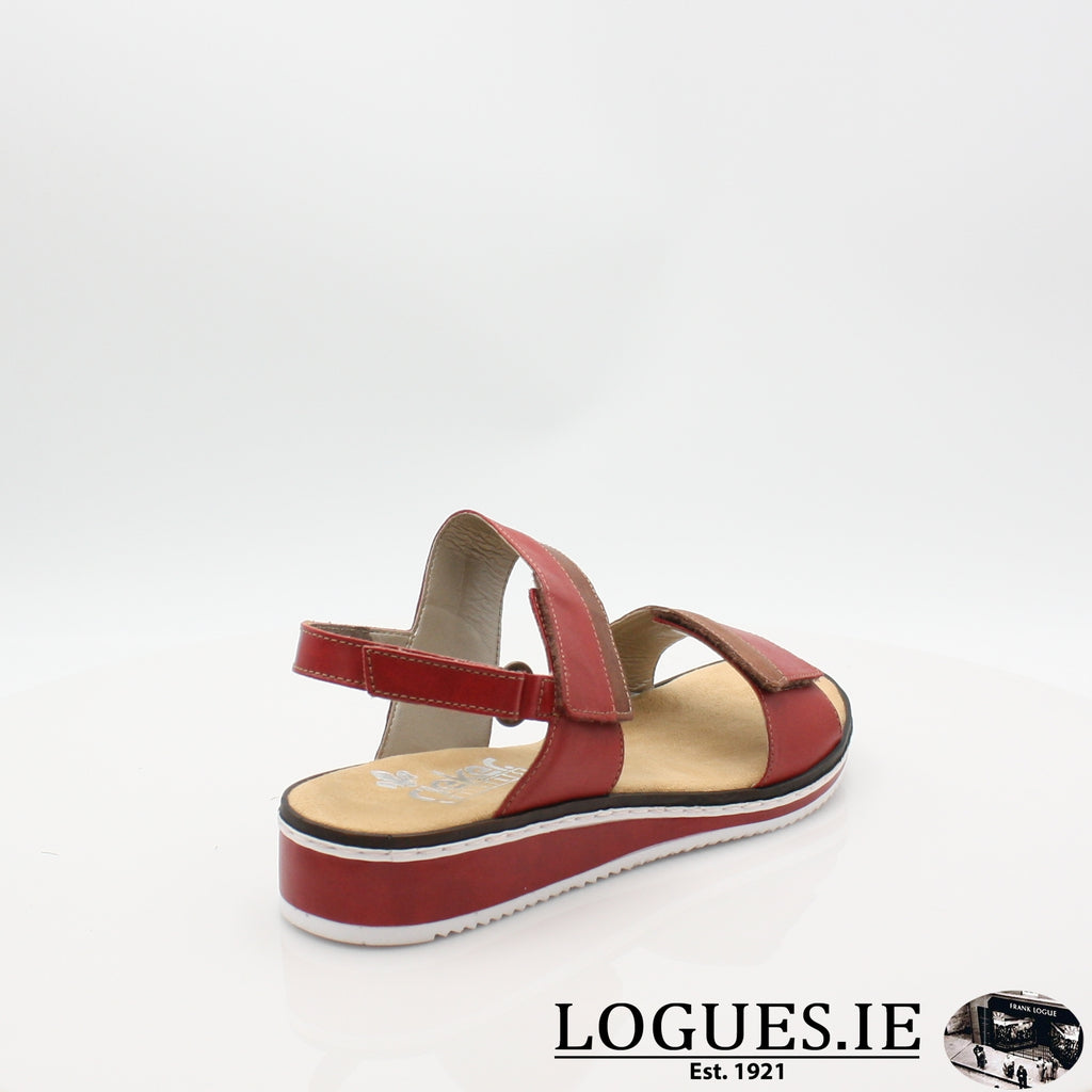 V36B9 RIEKER 19LadiesLogues Shoesred combination 33 / 42