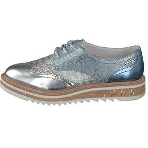 BUGATTI V7002 S/S 17-Ladies-BUGATTI SHOES( BENCH GRADE )-815 METAL BLAU-36 = 3 UK-Logues Shoes