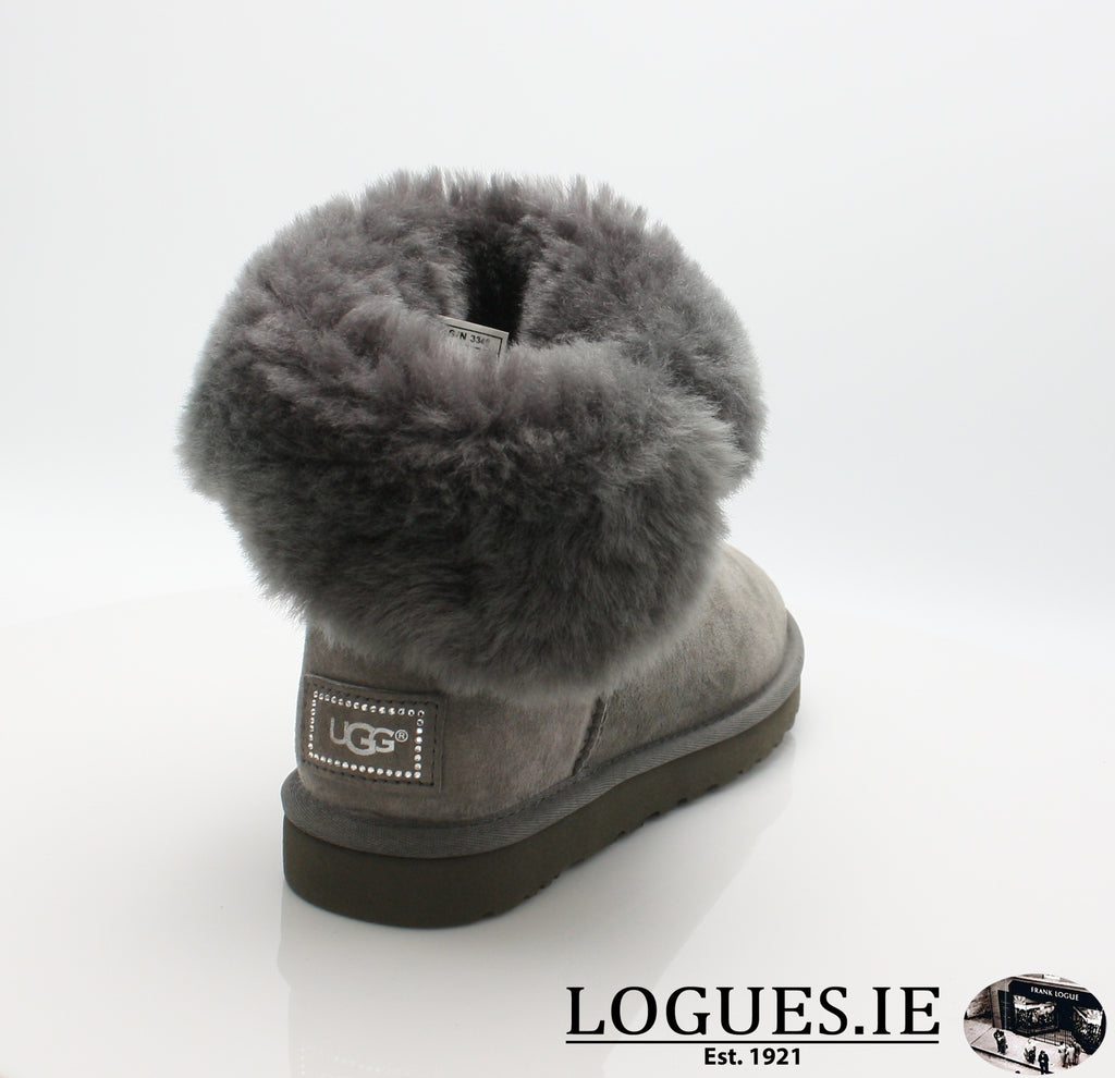 UGGS BALEY BUTTON BLING 3349LadiesLogues ShoesGREY / 10 US