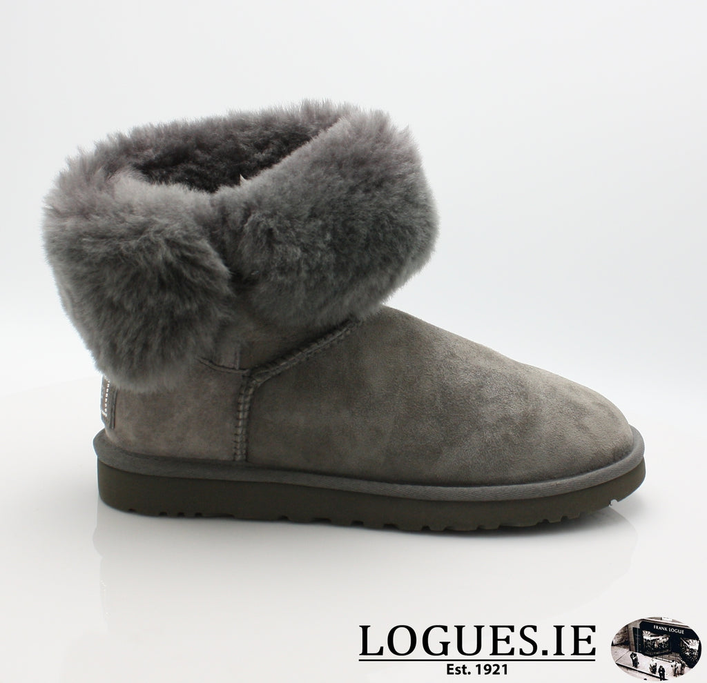 UGGS BALEY BUTTON BLING 3349LadiesLogues ShoesGREY / 5 US