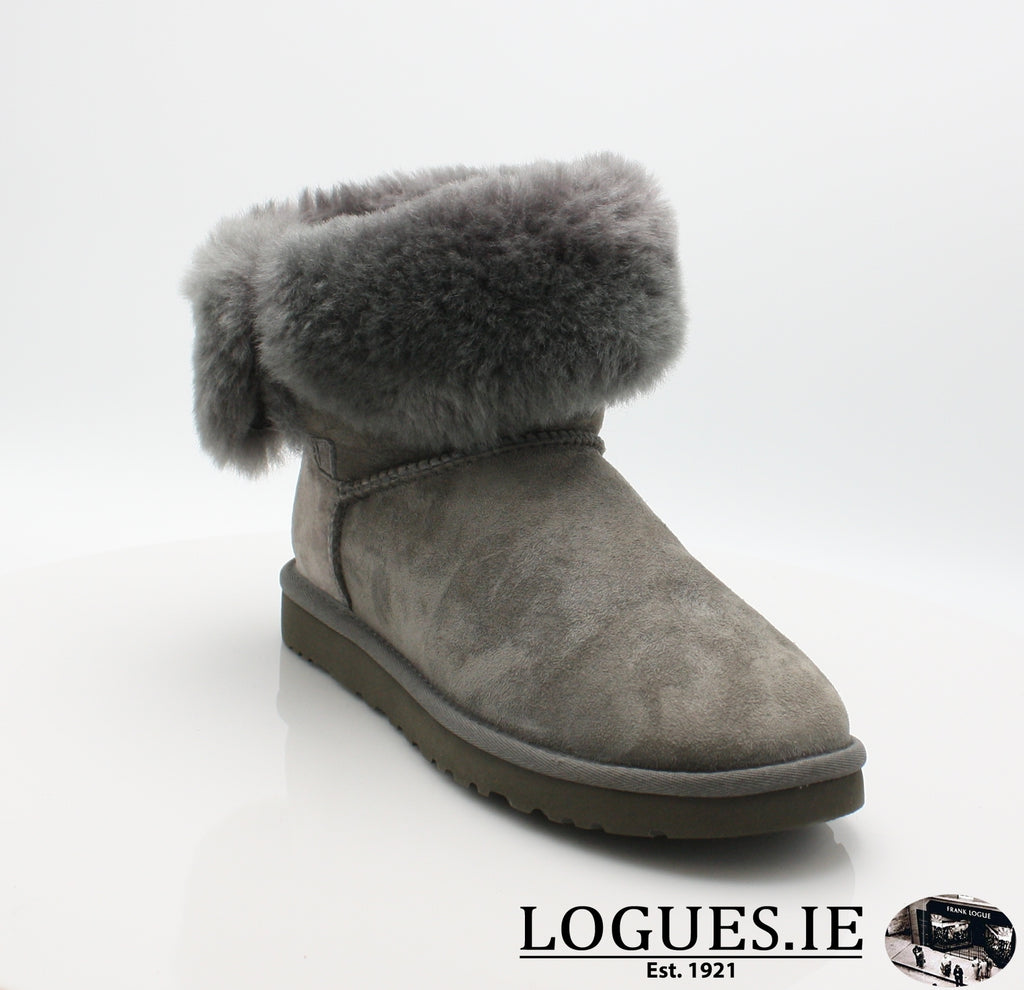 UGGS BALEY BUTTON BLING 3349LadiesLogues ShoesGREY / 6 US
