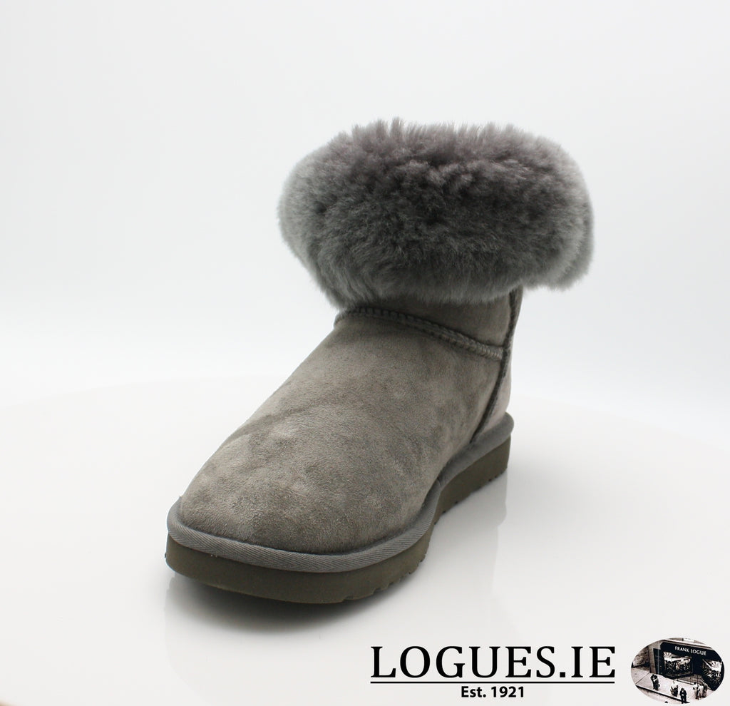 UGGS BALEY BUTTON BLING 3349LadiesLogues ShoesGREY / 7 US