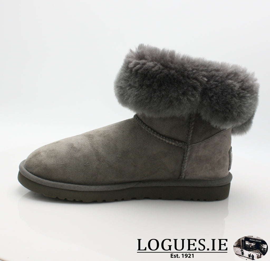 UGGS BALEY BUTTON BLING 3349LadiesLogues ShoesGREY / 8 US