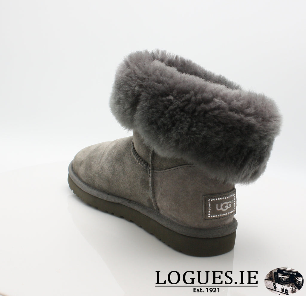 UGGS BALEY BUTTON BLING 3349LadiesLogues ShoesGREY / 9 US