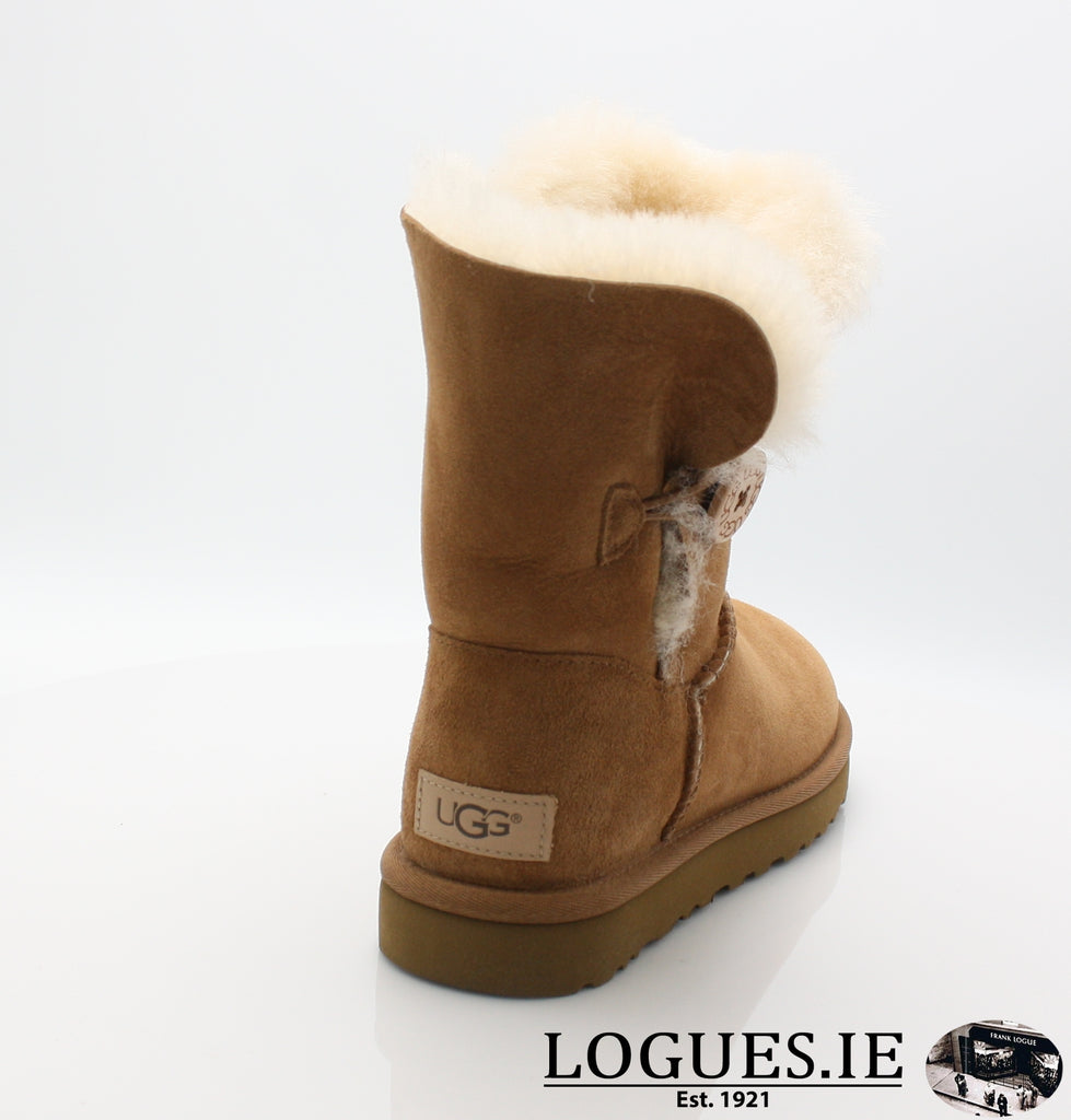 UGGS BAILEY BUTTON 2 1016226-Ladies-UGGS FOOTWEAR-CHESTNUT-9 US 7.5 UK-Logues Shoes