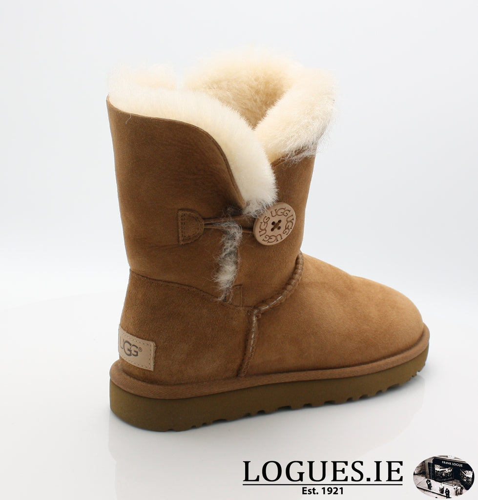 UGGS BAILEY BUTTON 2 1016226-Ladies-UGGS FOOTWEAR-CHESTNUT-10 US 8.5 UK-Logues Shoes