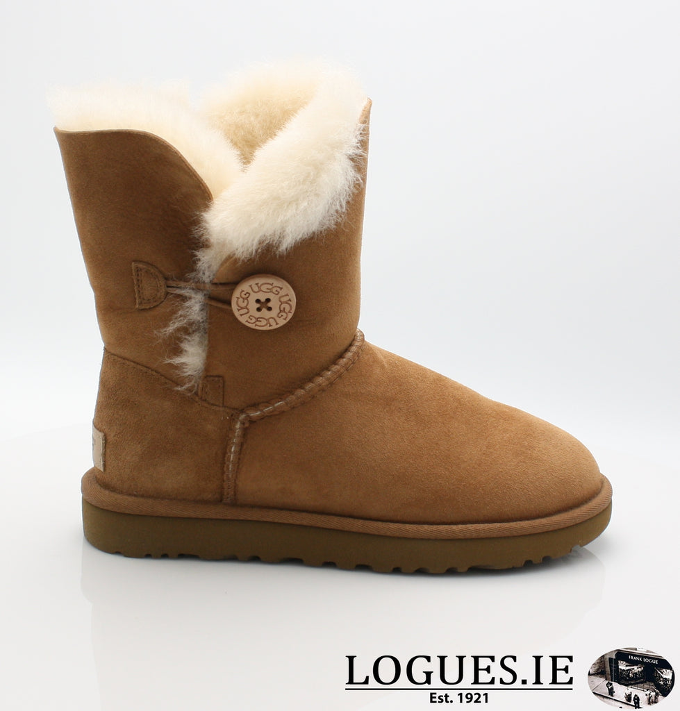 UGGS BAILEY BUTTON 2 1016226-Ladies-UGGS FOOTWEAR-CHESTNUT-5 US 3.5 UK-Logues Shoes