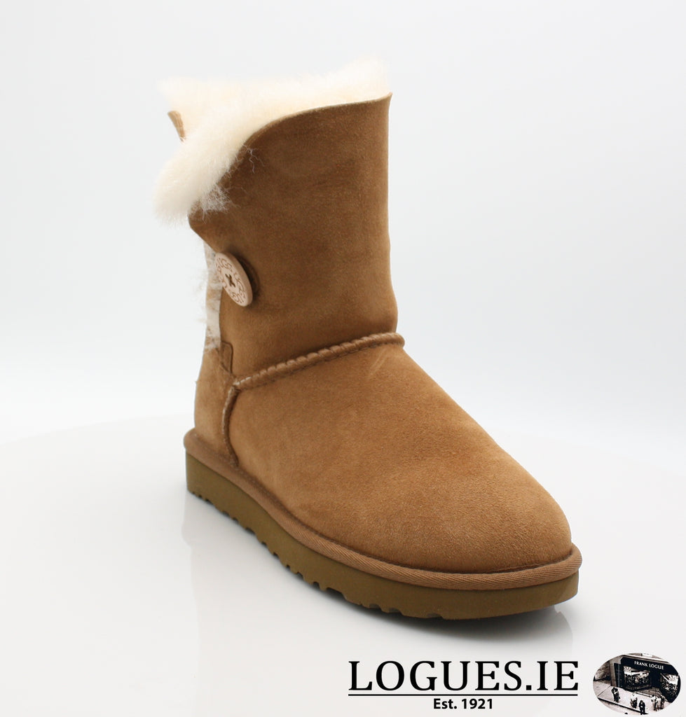 UGGS BAILEY BUTTON 2 1016226-Ladies-UGGS FOOTWEAR-CHESTNUT-6 US 4.5 UK-Logues Shoes