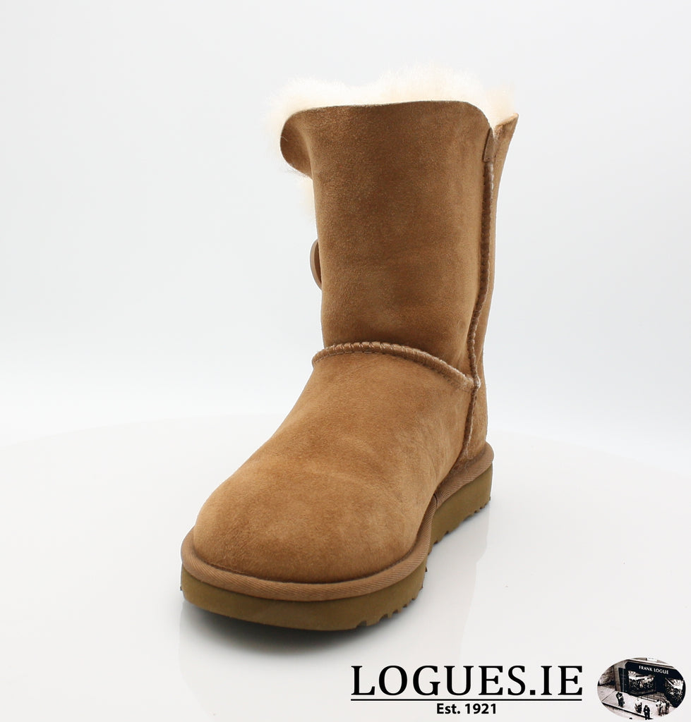 UGGS BAILEY BUTTON 2 1016226-Ladies-UGGS FOOTWEAR-CHESTNUT-7 US 5.5 UK-Logues Shoes