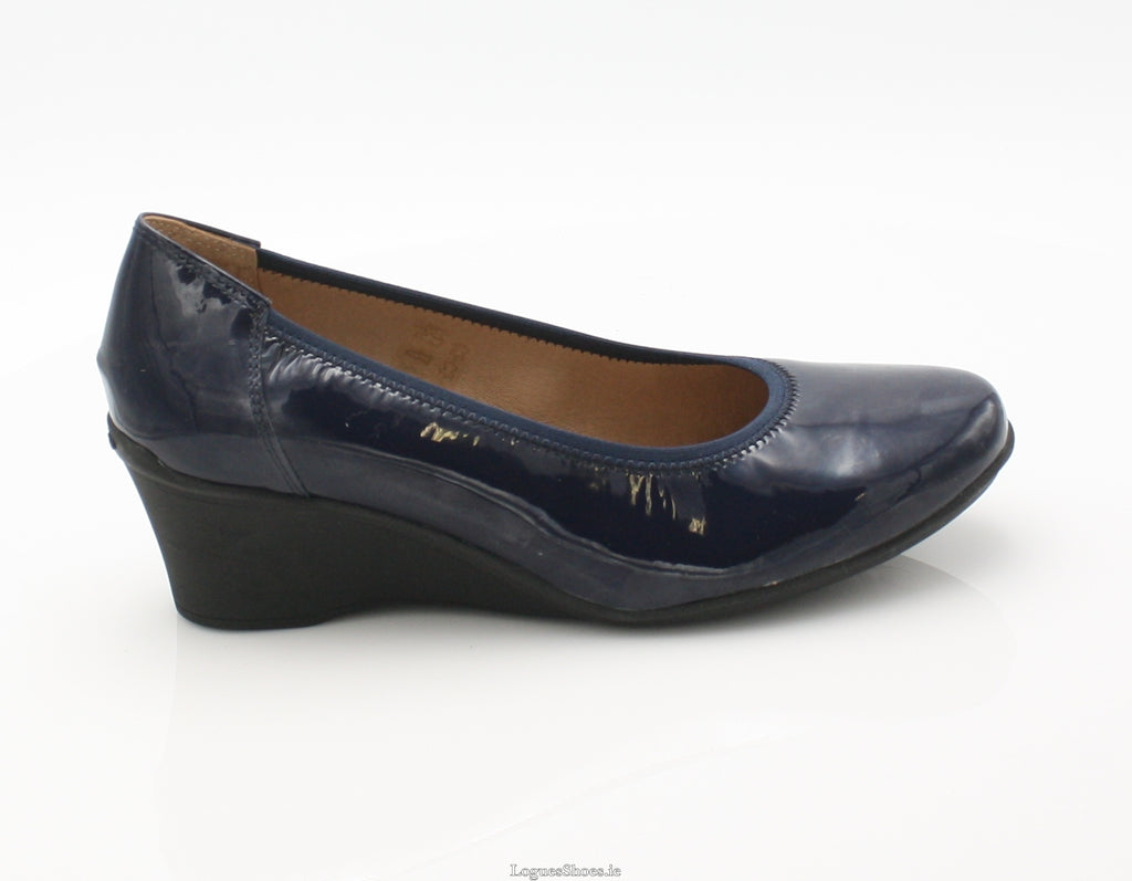 WACO 2 SS18 FLEX & GO-Ladies-FLEX& GO FOOTWEAR-NAVY PAT-36 = 3 UK-Logues Shoes