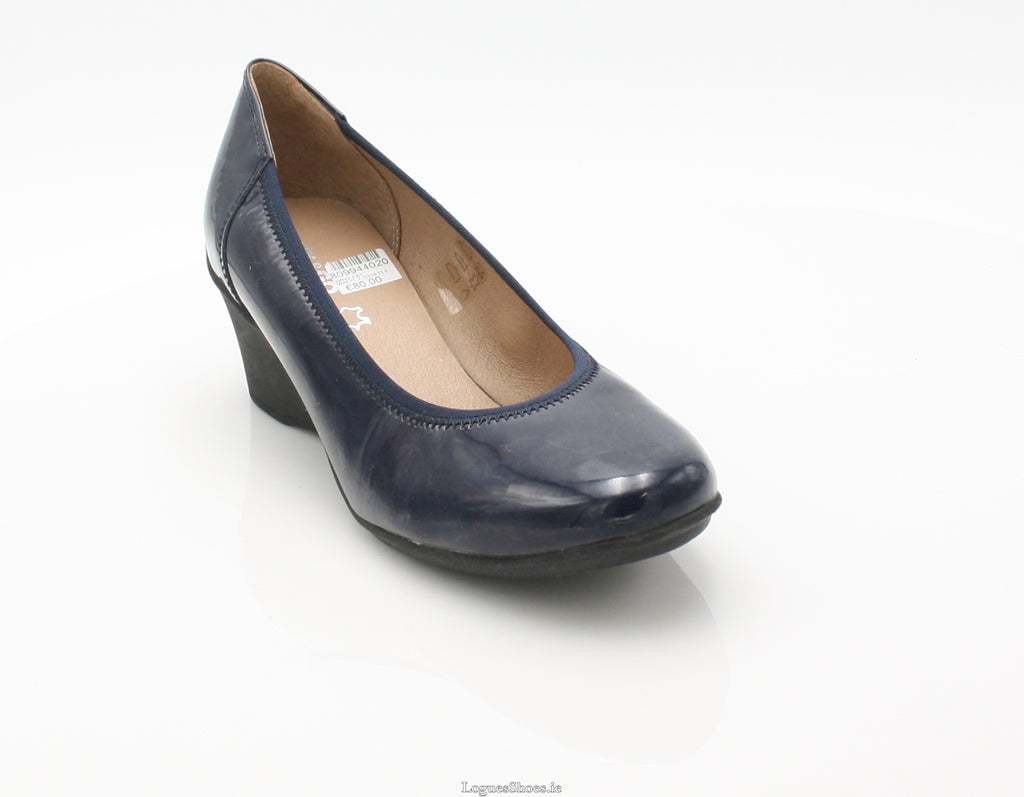 WACO 2 SS18 FLEX & GO-Ladies-FLEX& GO FOOTWEAR-NAVY PAT-38 = 5UK-Logues Shoes