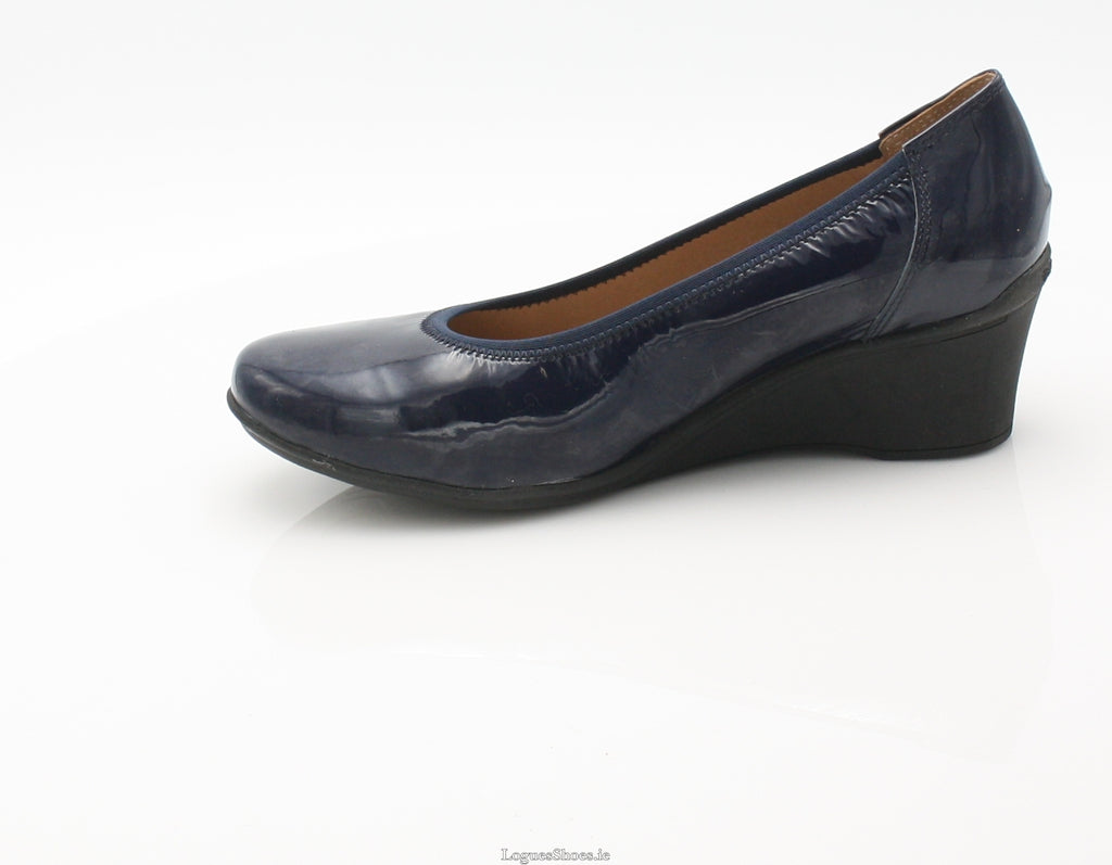WACO 2 SS18 FLEX & GO-Ladies-FLEX& GO FOOTWEAR-NAVY PAT-42 = 8 UK-Logues Shoes