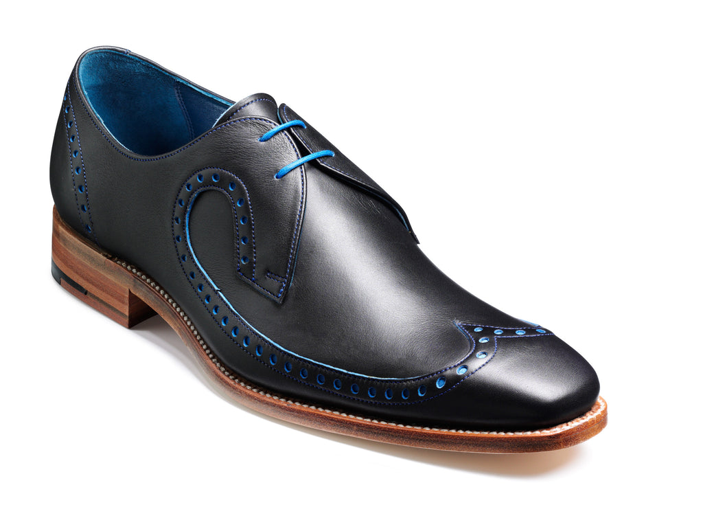 WOODY BARKER-Mens-BARKER SHOES-NAVY/BLUE-6-Logues Shoes