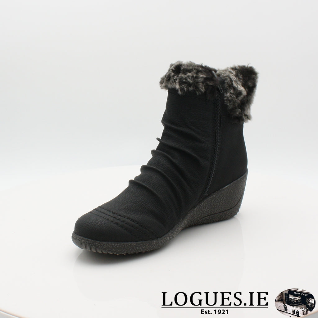 RKR Y0363LadiesLogues Shoesschwarz/granit 01 / 37