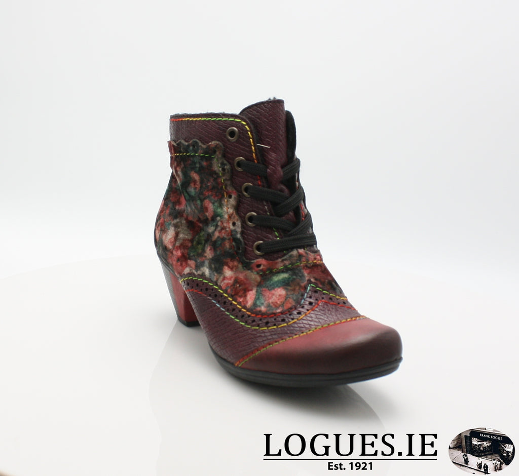 RKR Y7213LadiesLogues Shoeswine/bordeaux/mul 34 / 37