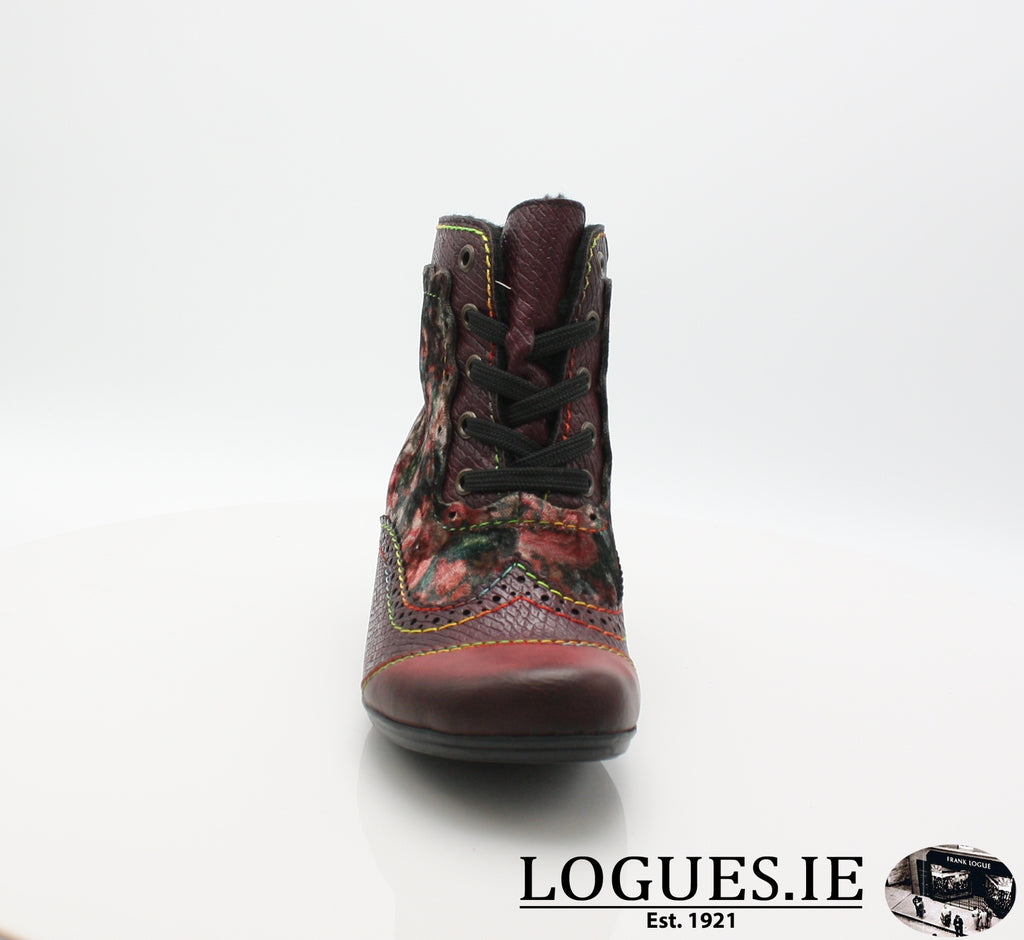 RKR Y7213LadiesLogues Shoeswine/bordeaux/mul 34 / 38