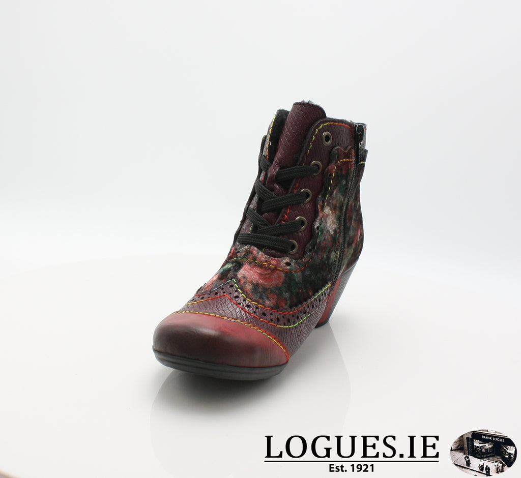 RKR Y7213LadiesLogues Shoeswine/bordeaux/mul 34 / 39